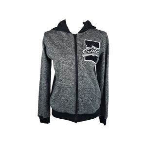 Epic Threads Boy Streaky Gray Fleece Zip Hoodie L